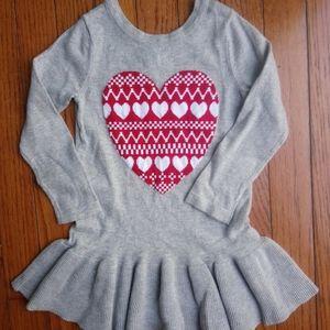 Baby Gap Heart Sweater Dress, 2 Yrs